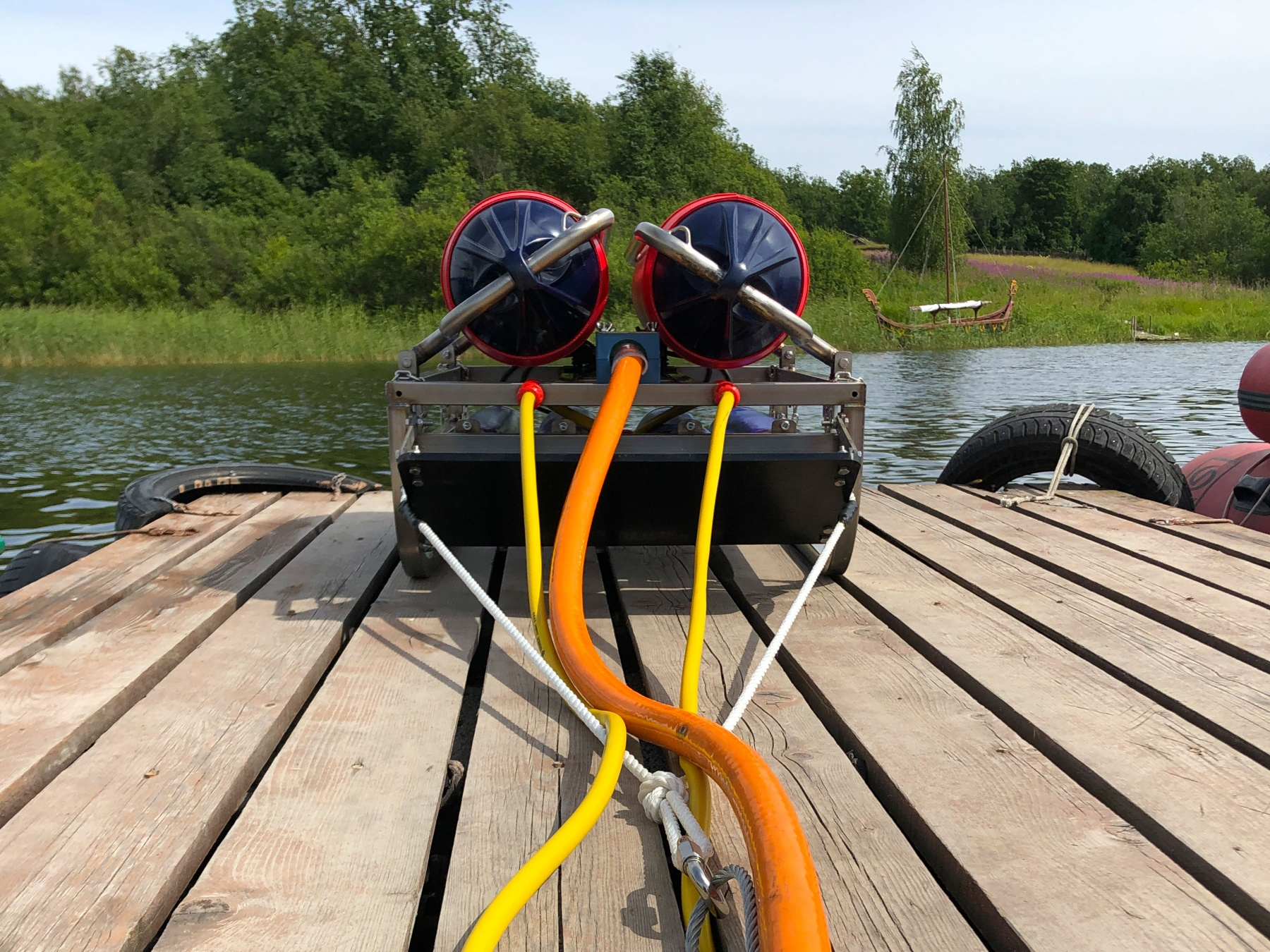 FWS-250 Fresh water sparker with HV power cable and water hoses