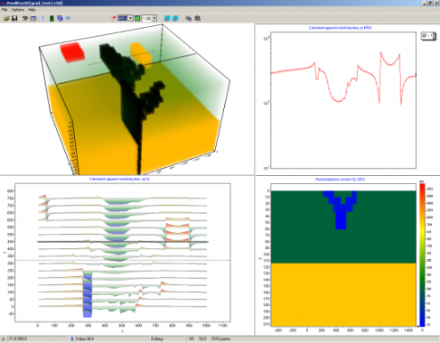 ZondRes3D — 3D electrotomography for resistivity and IP